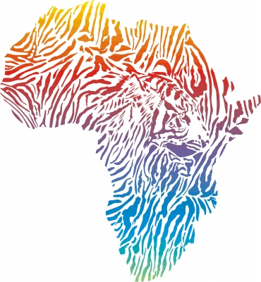 Abstract Africa in a Tiger Camouflage